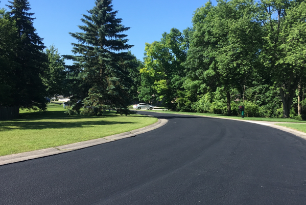 mastic treatment on residential street